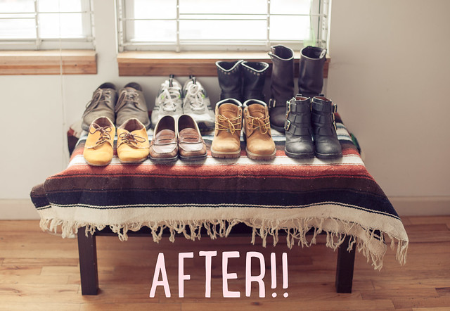 DIY Shoe rack
