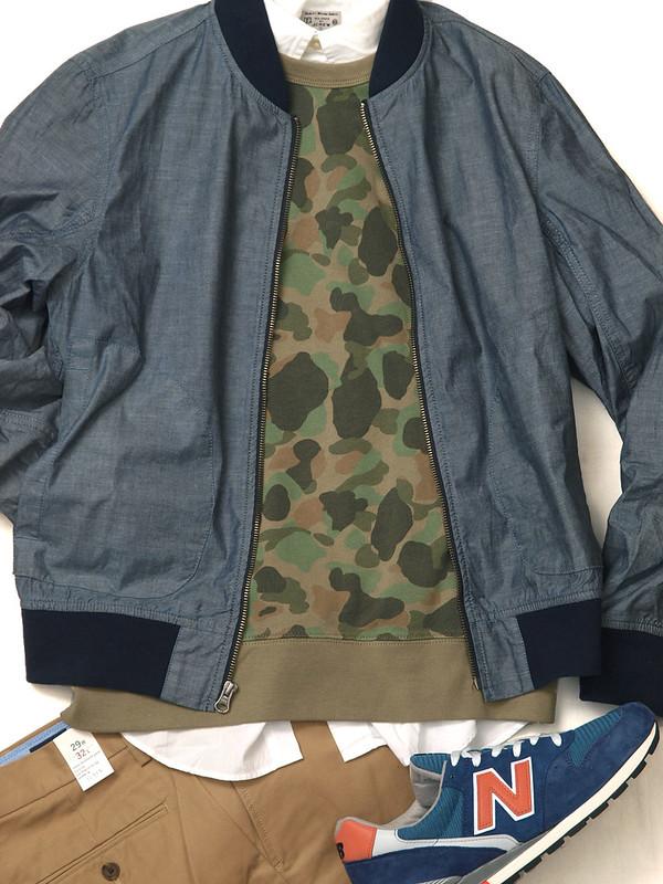 J.Crew / Chambray Bomber Jacket