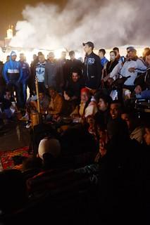 Gnaoua musicians, Jmaa el Fna, Marrakech