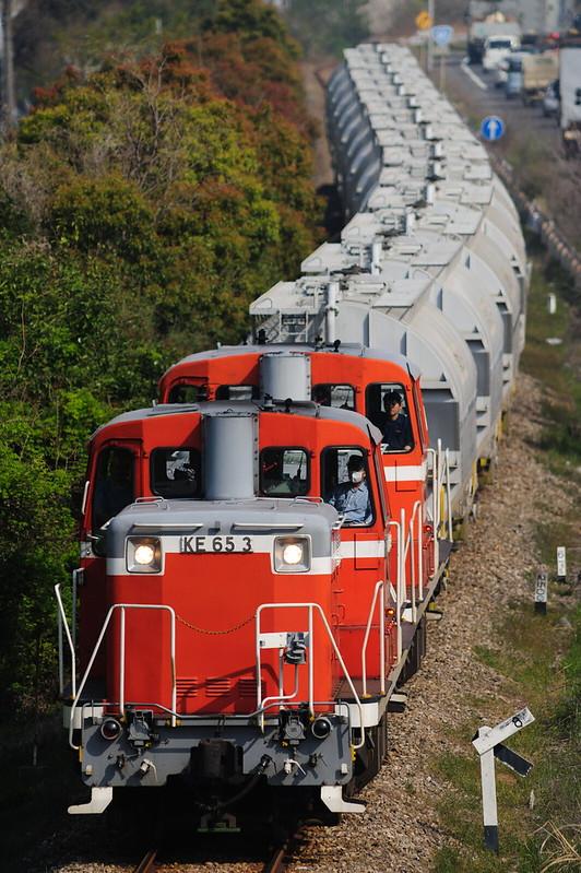5570レ KE65 3+KE65 * Freight Train