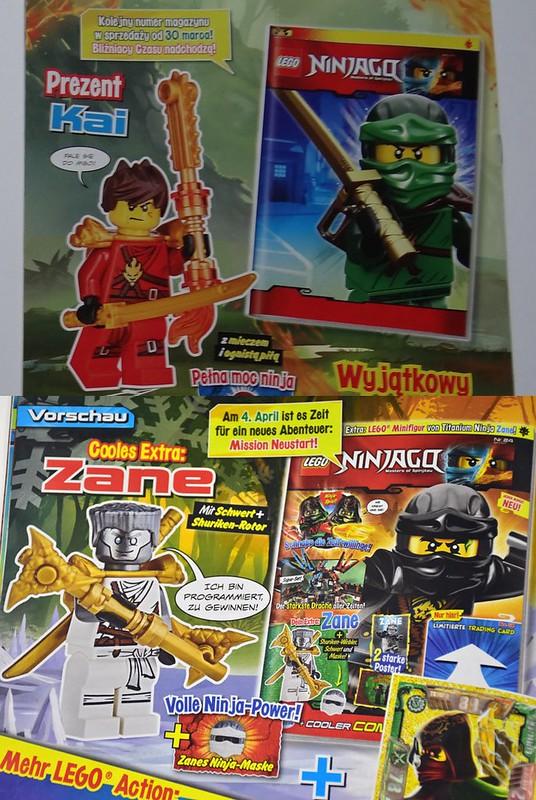 Następne numery magazynu Ninjago