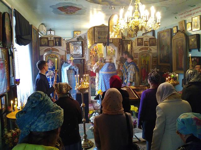 Божественна літургія в храмі Воскресіння Христового на Благовіщення