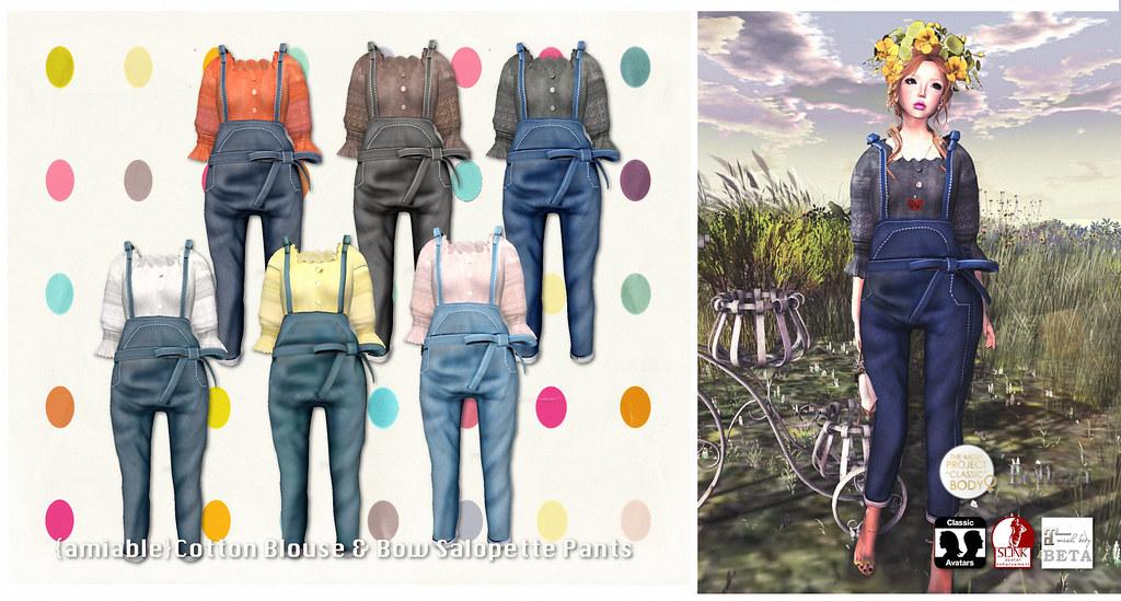 {amiable}Cotton Blouse & Bow Salopette Pants 50%OFF SALE@N°21. - SecondLifeHub.com