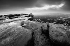 Stanage Edge in Cloud