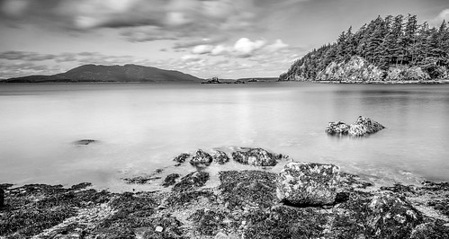 chuckanutdrive claytonbeach bellingham washington unitedstates us samishbay landscape longexposure slowshutterspeed blackandwhite monochrome trinterphotos richtrinter