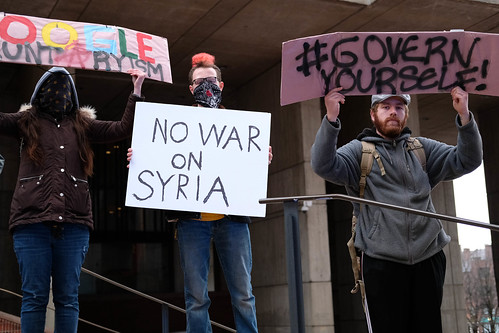 No War on Syria Rally