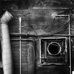 Homage to Lee Bontecou... one of my favorite artist... seen while walking in Elizabeth, NJ  .