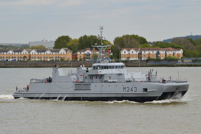 HNOMS Hinnoey M343 @ Gallions Reach 14-04-17