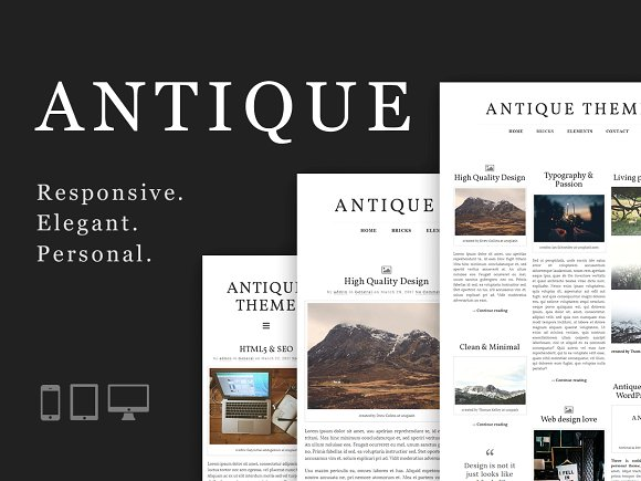 Antique v1.0 – Responsive & Elegant Theme