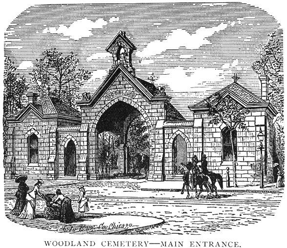 Main entrance - Woodland Cemetery