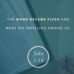 And the Word became flesh and dwelt among us, and we have seen his glory, glory as of the only Son from the Father, full of grace and truth.John 1:14 ESV