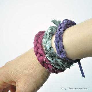 Knitted summer bracelets