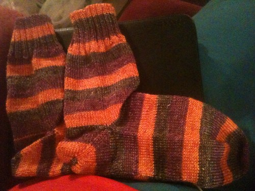 Finished Autumn Walk socks