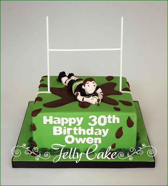 Cake Decorating Ideas Rugby : Rugby Birthday Cake Explore www.jellycake.co.uk s photos ...