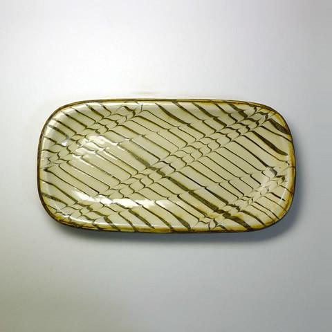 ふもと窯「27cm長方形皿(白)C」