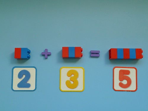 Montessori Activity - Teaching Addition with Lego Brick Number Rods from Elaine Ng Friis