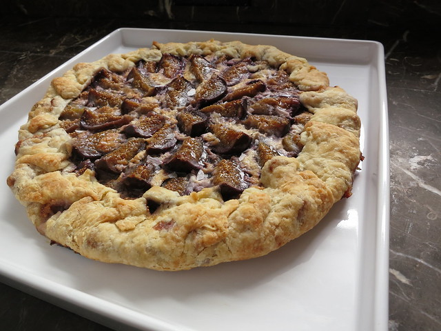 fig and honeyed mascarpone galette