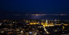Lausanne by night (and a little bit of France on the other side of the Leman Lake)