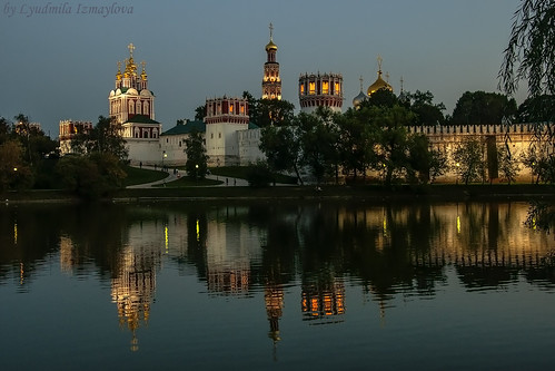 Novodevichy Monastery in the evening