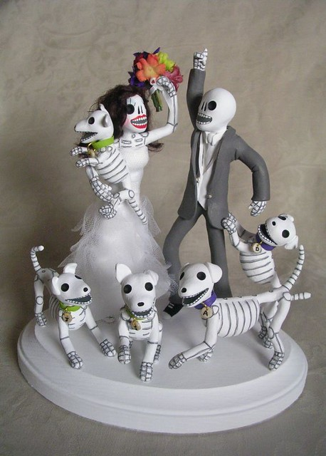 day of the dead wedding cake topper dancing with dogs flickr photo