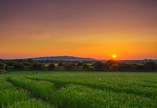 sunset summer field landscape countryside nikon day sundown cloudy cotswolds gloucestershire flax laverton jactoll