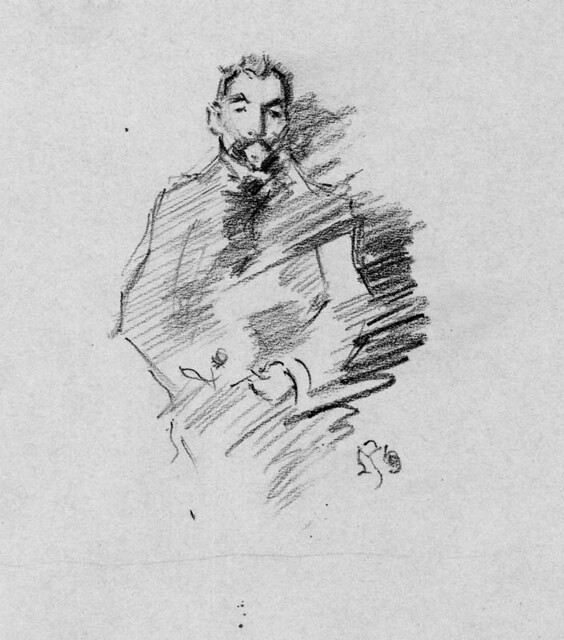 "Copy of J.M.Whistler's ""Stephane Mallarme"""
