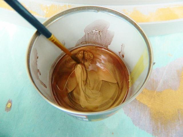 creating a metallic glaze