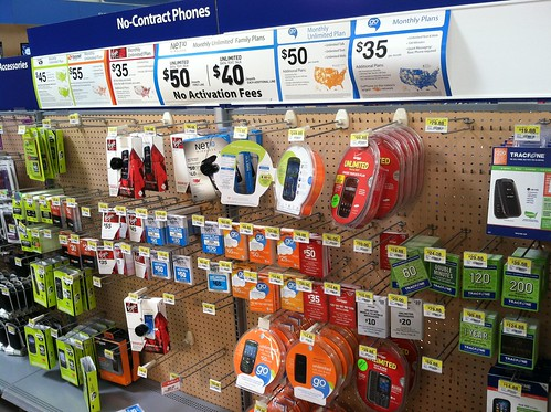 Prepaid display at Walmart