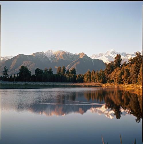 winter newzealand sun mountain lake 120 6x6 clouds mediumformat kodak bronica squareformat southisland 100 sqa lakematheson morningsun ektar filmisnotdead 80mmf28 istillshootfilm
