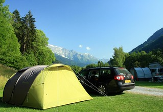 Camping by Mont Blanc