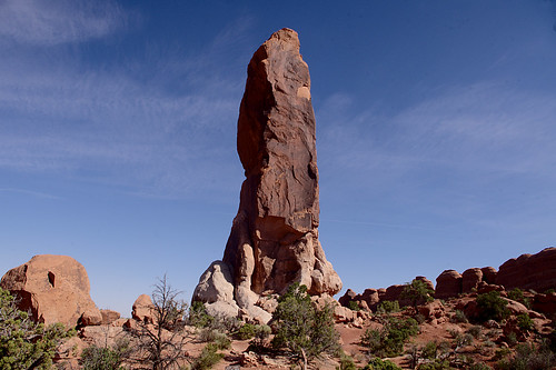 The Dark Angel, Devil's Garden Trail, Arches National Park, Utah