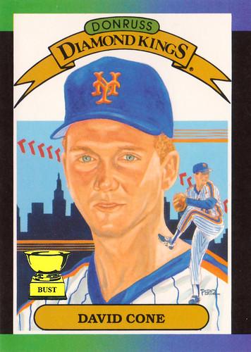 Baseball Card Bust David Cone 1989 Donruss Diamond Kings