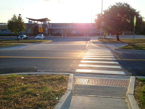 Crosswalk Outside Galway Elementary School