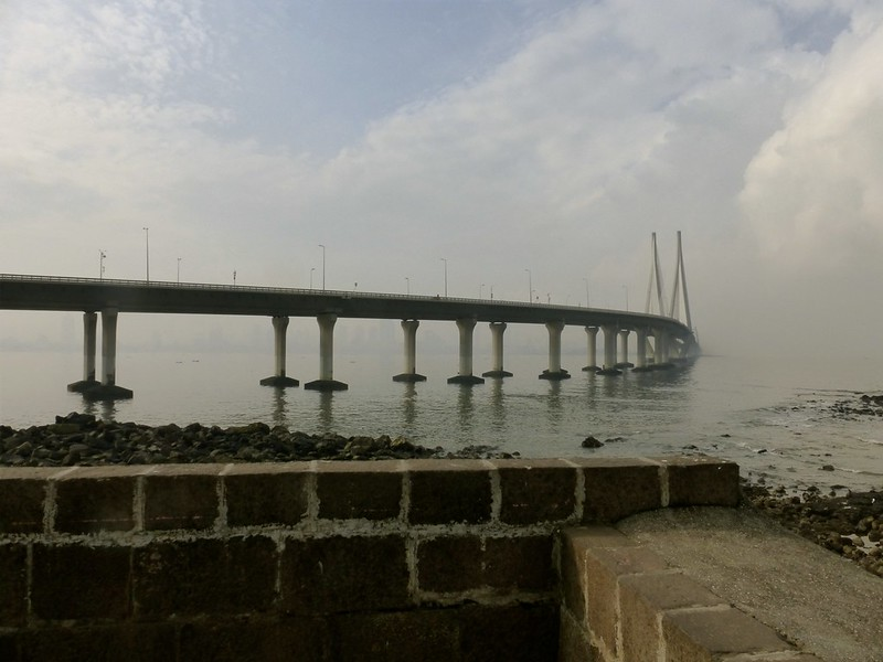 Bandra Fort - view of the sea link