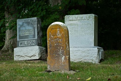 cemetery adams headstone indiana wilson mathews mounthebroncemetery
