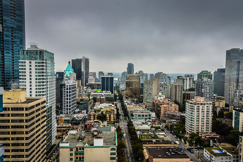 View from Blue Horizon Hotel Vancouver British Columbia Canada