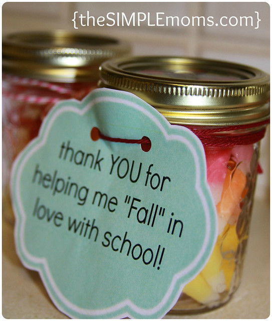 a simple craft halloween fall teacher gift or thank you gift
