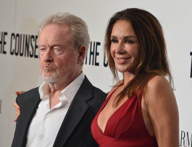 Giannina Facio and Ridley Scott
