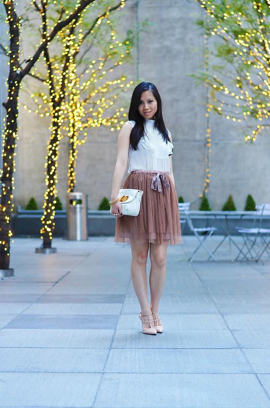blush pink tulle skirt
