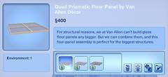 Quad Prismatic Floor Panel by Van Allen Decor