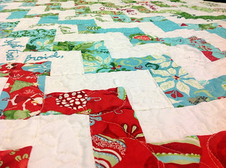 Père-Noël zigzag quilt tutorial part two: embellishing the quilt top with embroidery