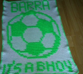 Celtic football blanket for Barra