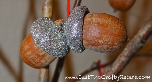 Glitter acorns for fall