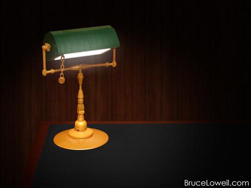 LEGO Banker's Lamp