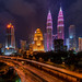 Petronas Twin Tower in Pink Color. by Azihan Yusoff
