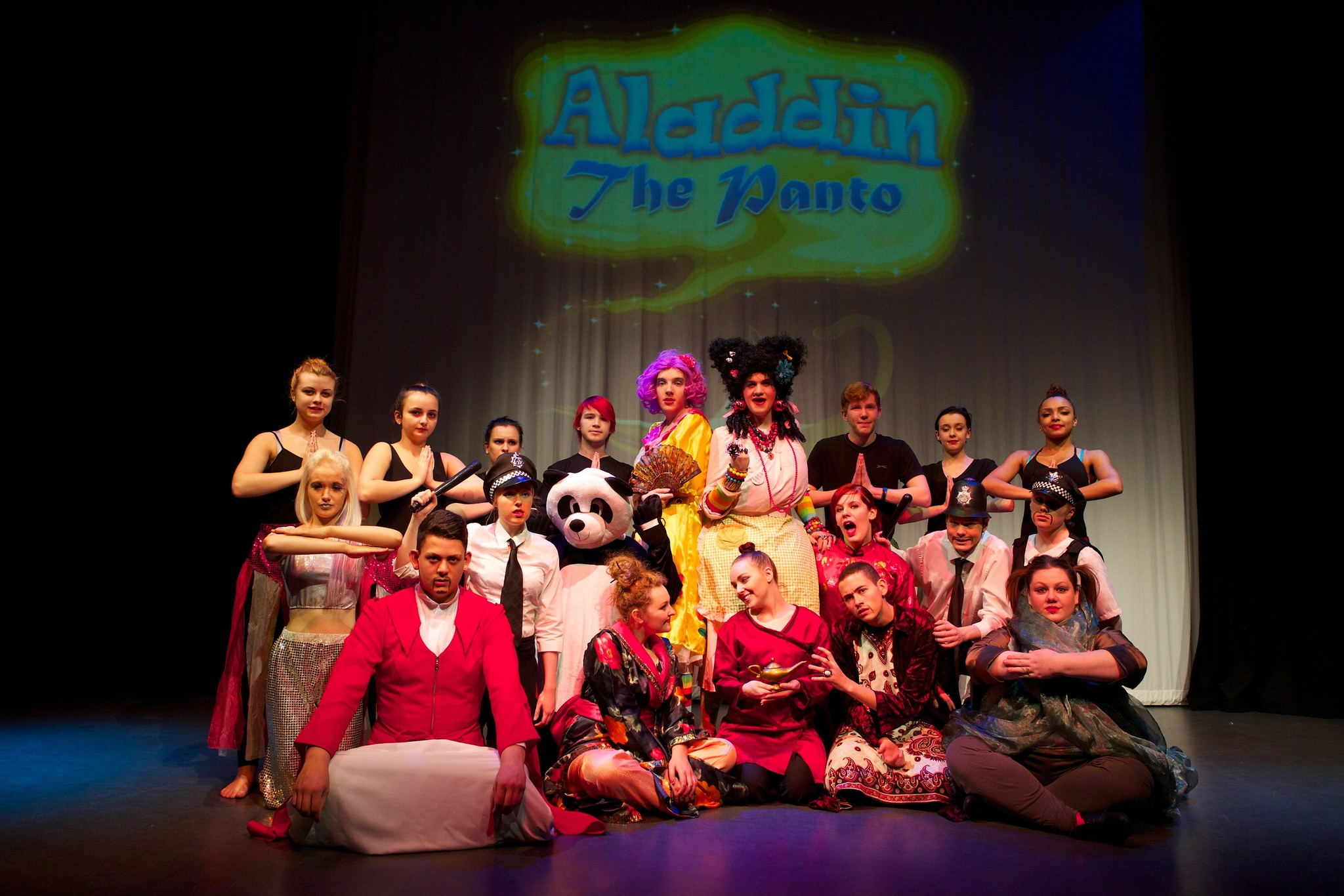 Bolton College pantomime full cast