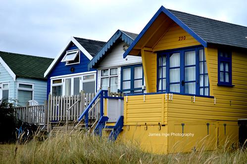 beach huts- Contrast boost