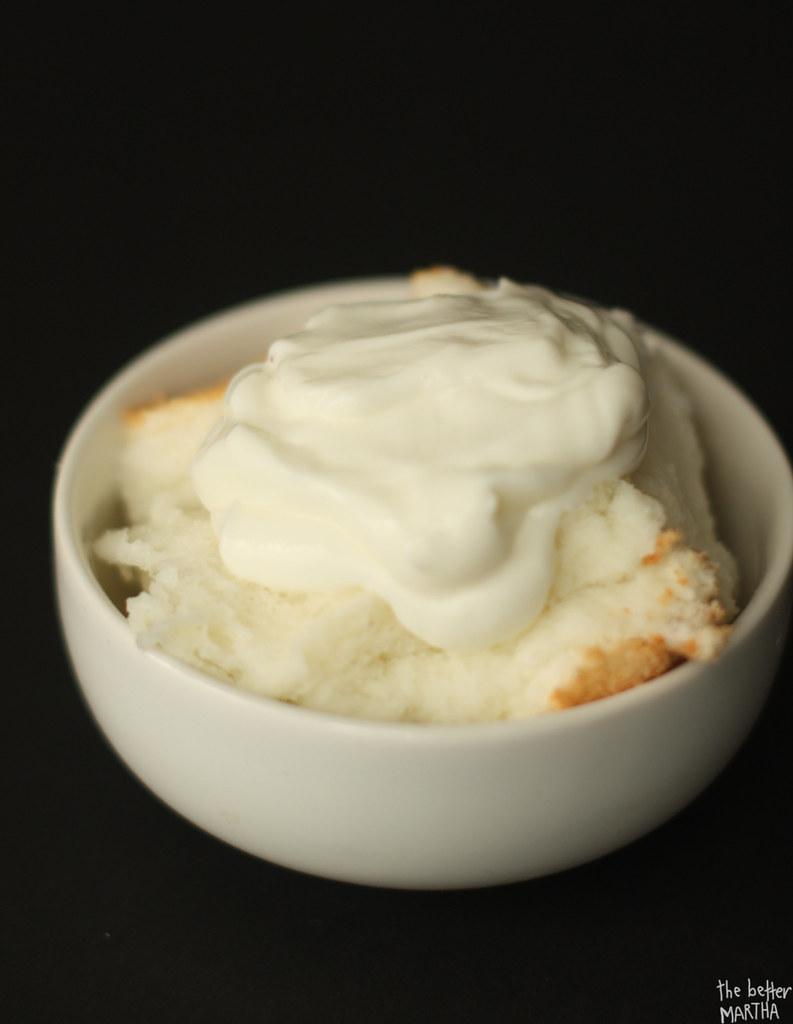 Cake topped with yogurt copy