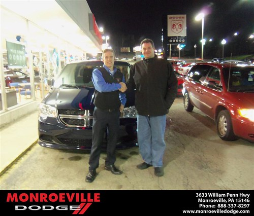 Happy Anniversary to Duwayne M Dorich on your 2013 #Dodge #Caravan from Tony  Brooks Jr  and everyone at Monroeville Dodge! #Anniversary by Monroeville Dodge