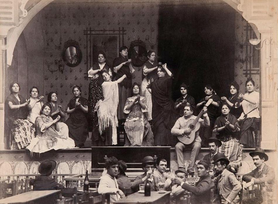 6. Ambiente en un local de cante Jondo. 1888. Autor, Carlos Teixidor